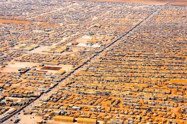 Menekülttábor JordániábanForrás: wikipedia.org