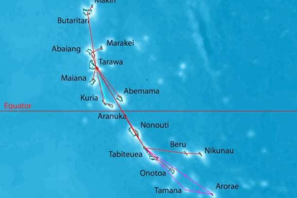 Kiribati szigetcsoportForrás: wikipedia.org