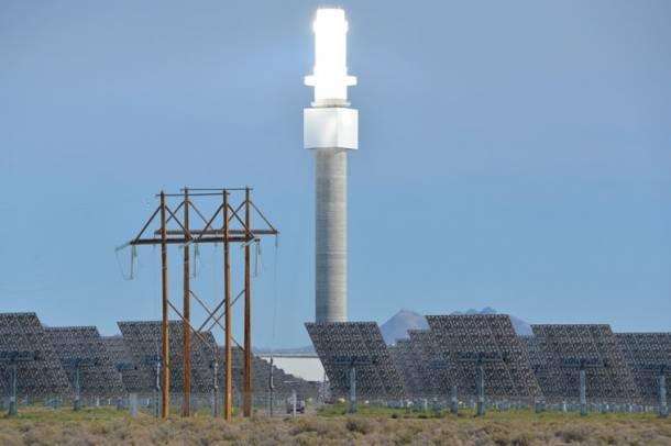A torony látványterve Forrás: solarreserve.com