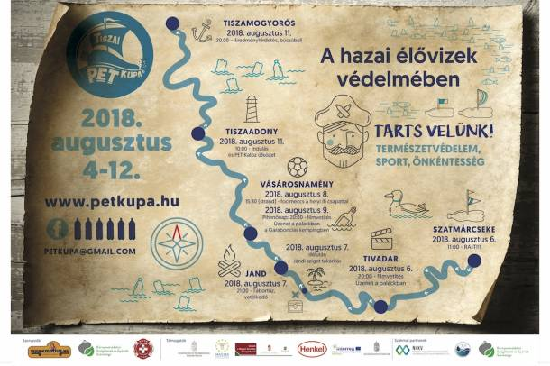 Újabb kalóztámadás a hulladékok ellen - Augusztus 4-én indul a hatodik Tiszai PET Kupa Forrás: PET Kupa Szerző: PET Kupa