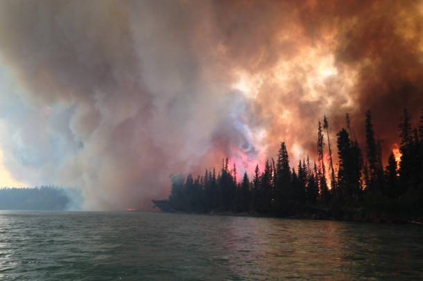 Erdőtűz Alaszkában - a kép illusztráció Forrás: www.flickr.com